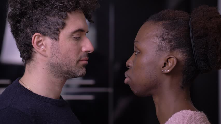 Black White Lesbian Kissing