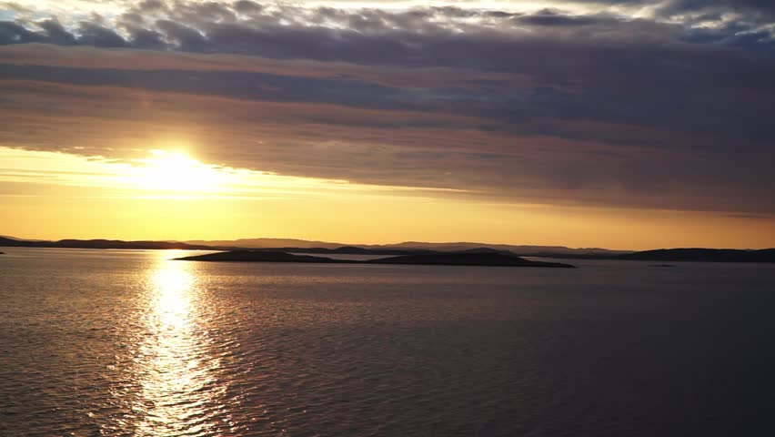 Sunset at the sea in Norway | Shutterstock HD Video #1025586134