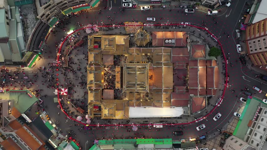 Aerial picture of Yunlin Beigang, Taiwan | Shutterstock HD Video #1025609864