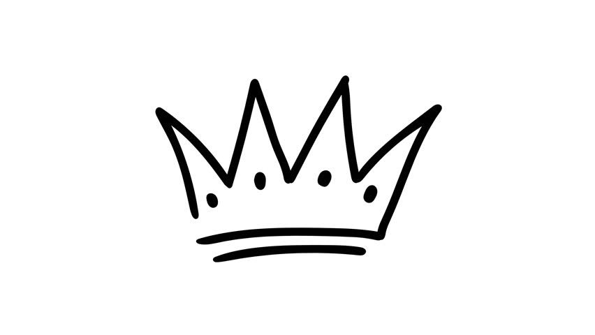 Animation of a hand-drawn crown #1025624258
