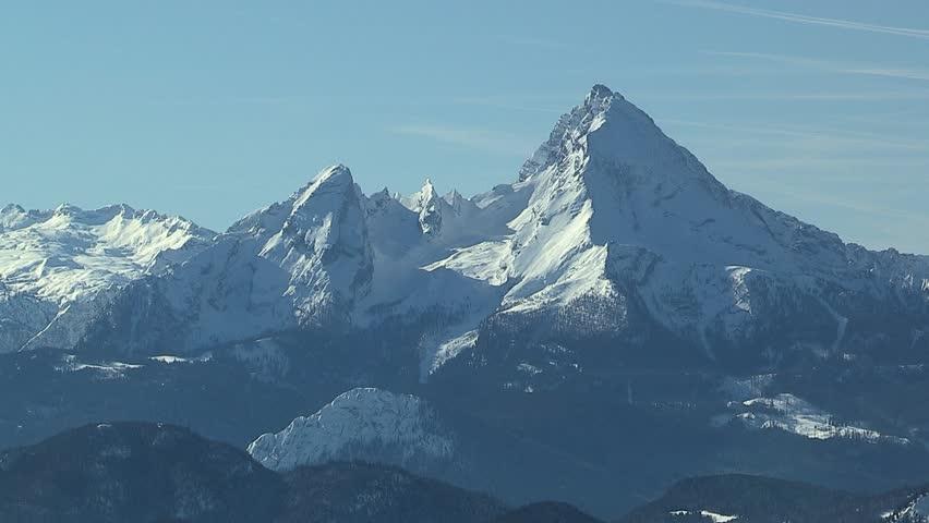 View to Watzmann, near Salzburg, Winter mood, Austria   Shutterstock HD Video #1025628203