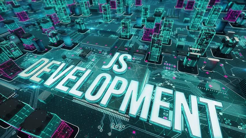 JS development with digital technology concept   Shutterstock HD Video #1025648447