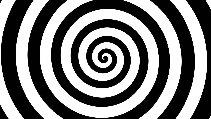 Hypnotic Spiral background spinning rotating retro 2d animation footage with alpha channel | Shutterstock HD Video #1025718968