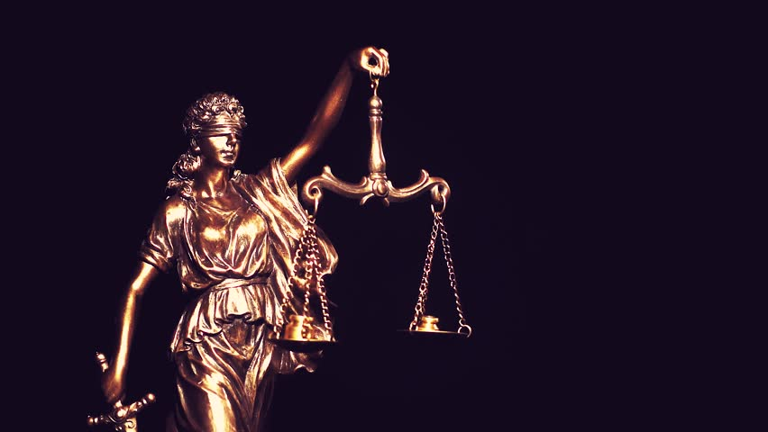 Themis, goddess of law, with measuring scale. Greek symbol of justice and order.   Shutterstock HD Video #1025722802