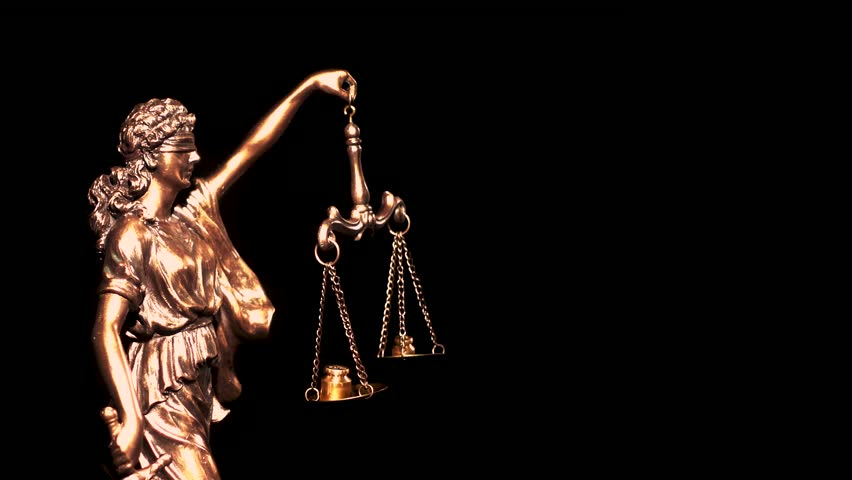 Themis, symbol of law with a measuring scale. Greek goddess of justice and order.   Shutterstock HD Video #1025722814