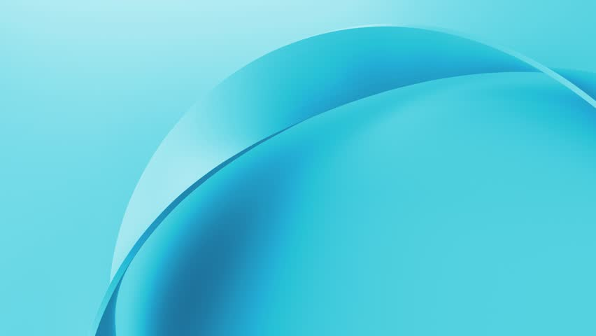 Blue simple and elegant 3d render background with twisted shape. Perfect for presentation background. Loopable animation.  #1025726618