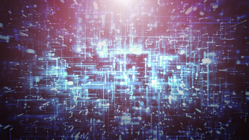 Abstract High Technology Background Loop/ 4k animation of an abstract technology background with lines and dots infographics, data fading and zooming in seamless loop | Shutterstock HD Video #1025733806