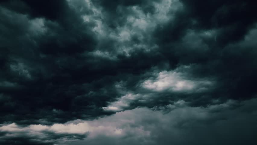 4k global warming effect black thunderstorm dramatic rain dark bright puffy fluffy clouds tropical twilight rain ultra hd definition 4k abstract cloud backgrounds Realistic lightning strikes rainy day #1025735624