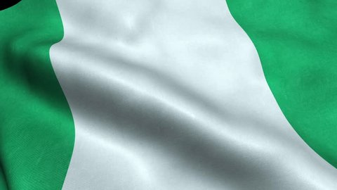 Nigeria Flag Seamless Looping Waving Animation