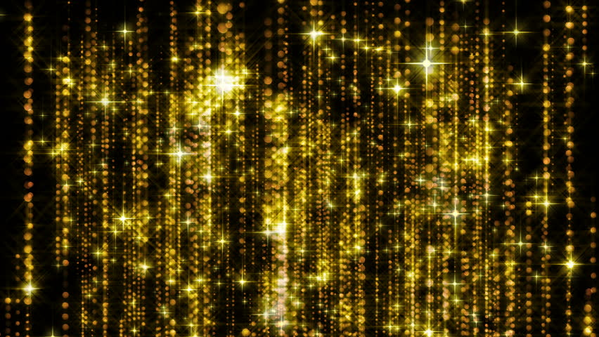 Abstract gold rain with bright particles with flares are in space, modern glossy background, 3d rendering backdrop | Shutterstock HD Video #1025750612