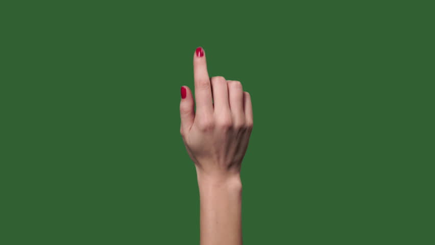 Green screen. Chromakey. Touch screen woman finger gestures | Shutterstock HD Video #1025762726