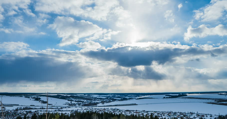 Time lapse clouds, rolling puffy cloud are moving, white lightnes clouds time lapse. 4k Timelapse of white clouds with blue sky video loop | Shutterstock HD Video #1025785847