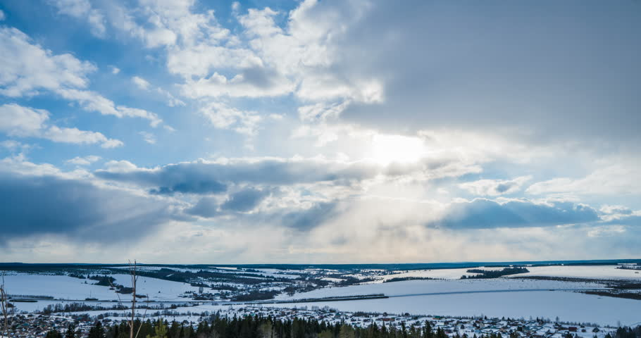 Time lapse clouds, rolling puffy cloud are moving, white lightnes clouds time lapse. 4k Timelapse of white clouds with blue sky | Shutterstock HD Video #1025785853