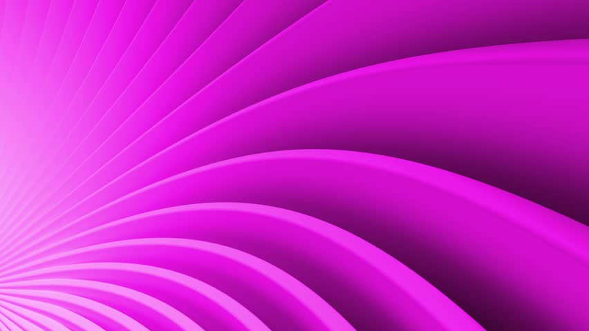 Purple 3d render abstract background with bended into spiral geometry. Simple geometry composition. Loopable animation. #1025838419