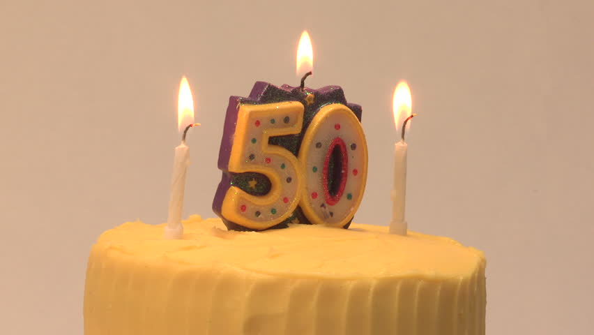 Amazing 50Th Birthday Cake With Candle Stock Footage Video 100 Royalty Funny Birthday Cards Online Elaedamsfinfo