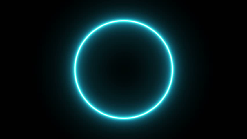 Neon circle with black and white alpha transparent.  Abstract Neon Glowing Circle Alpha Background. #1025845955