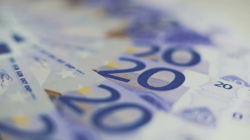 Twenty euro bills | Shutterstock HD Video #1025872796