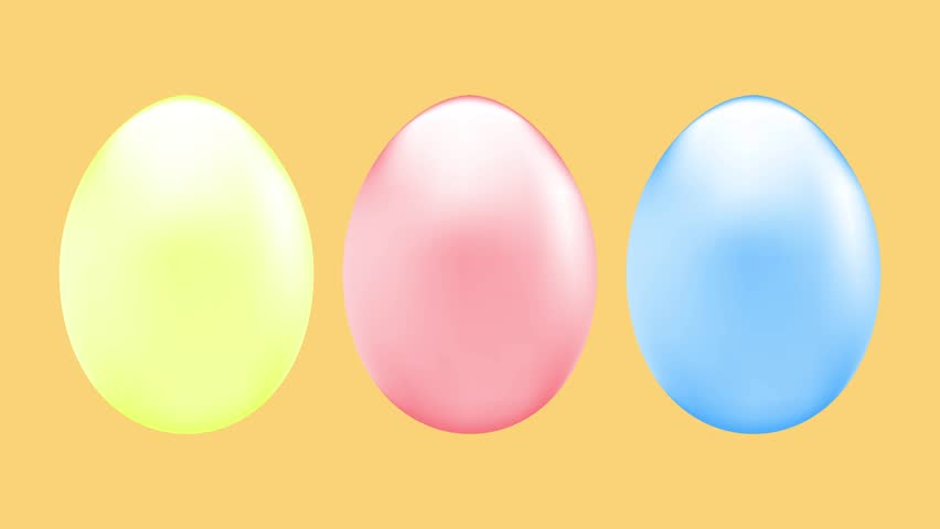 Animation with colorful Easter eggs | Shutterstock HD Video #1025878766