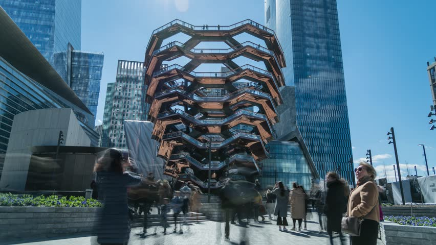 The Vessel, One Hudson Yards, Opening Weekend, Long Exposure Timelapse, March 17, 2019, New York City, NY, USA