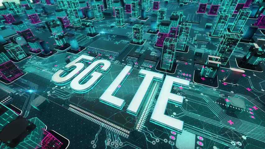 5G LTE with digital technology concept Royalty-Free Stock Footage #1025904077