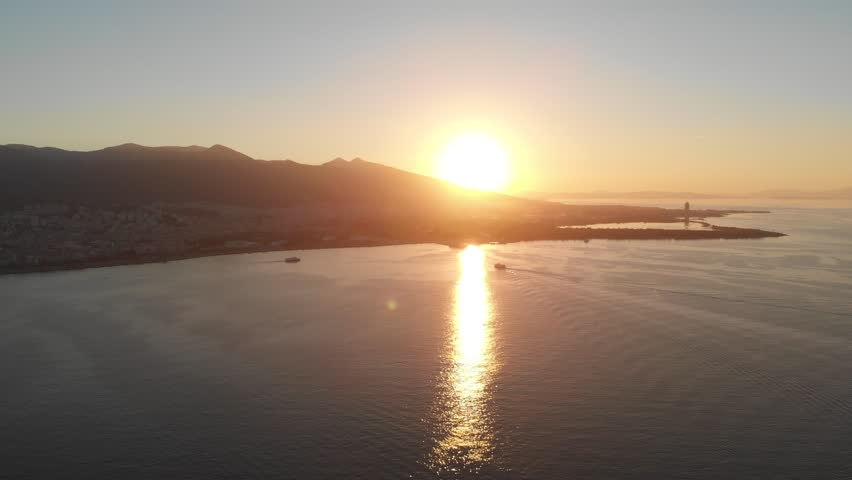 Various drone shots on a sunny afternoon in Izmir, the third largest city in Turkey. Beautiful Aegean coast. | Shutterstock HD Video #1025964056