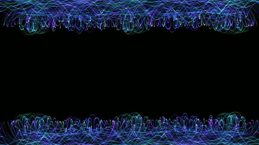 4K Fractal Waves Borders - Motion Background #1025964656