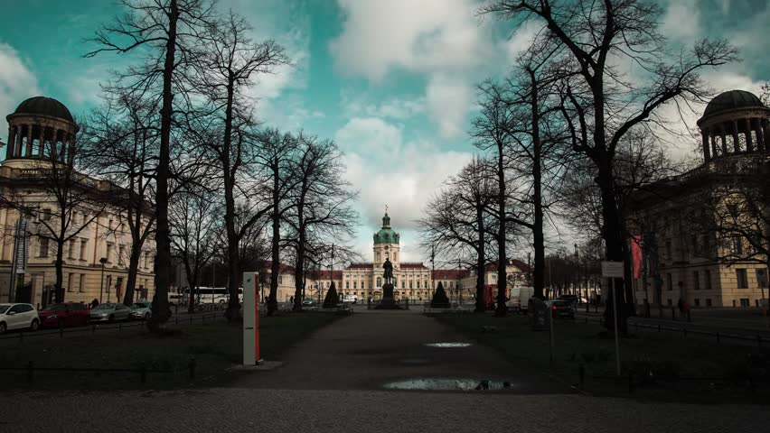 Hyper lapse Time lapse Schloss Charlottenburg cloudy sky   Shutterstock HD Video #1025982281