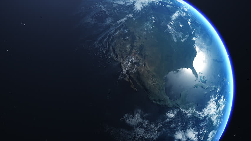 Cinematic Planet Earth North America Zoom In   | Shutterstock HD Video #1026002609
