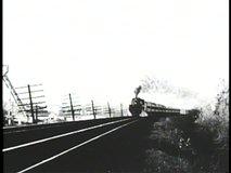 NEBRASKA PRAIRIES, 1905, Archival footage of steam locomotive passing in winter