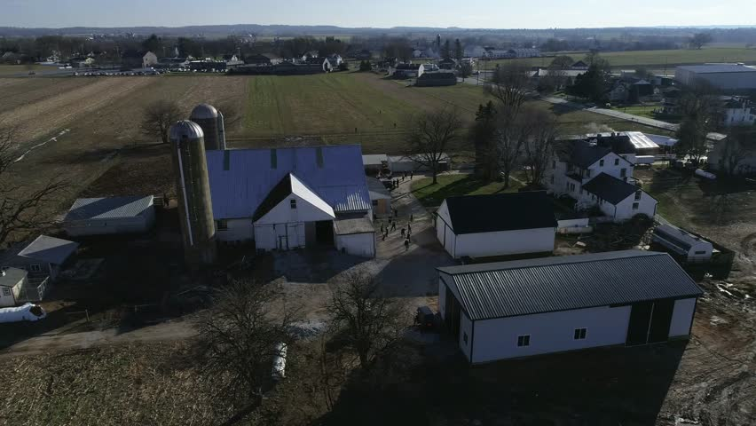 Amish Family Wedding as Seen by a Drone