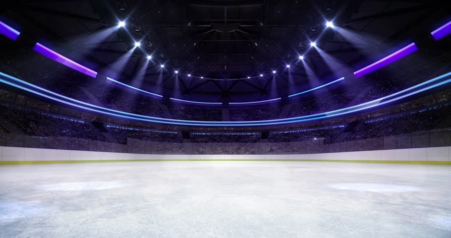 Ice Hockey Arena Interior Illuminated Stock Footage Video 100 Royalty Free 1026039614 Shutterstock