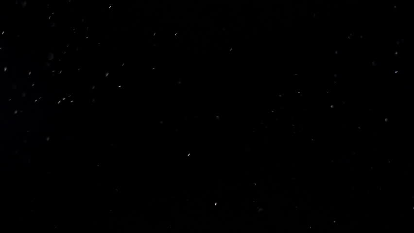 White dust particles like snow flakes descending and floating in space against black background | Shutterstock HD Video #1026048029