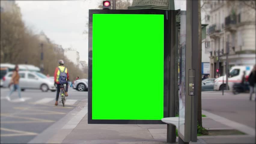 Street bilboard advert - green key | Shutterstock HD Video #1026049943