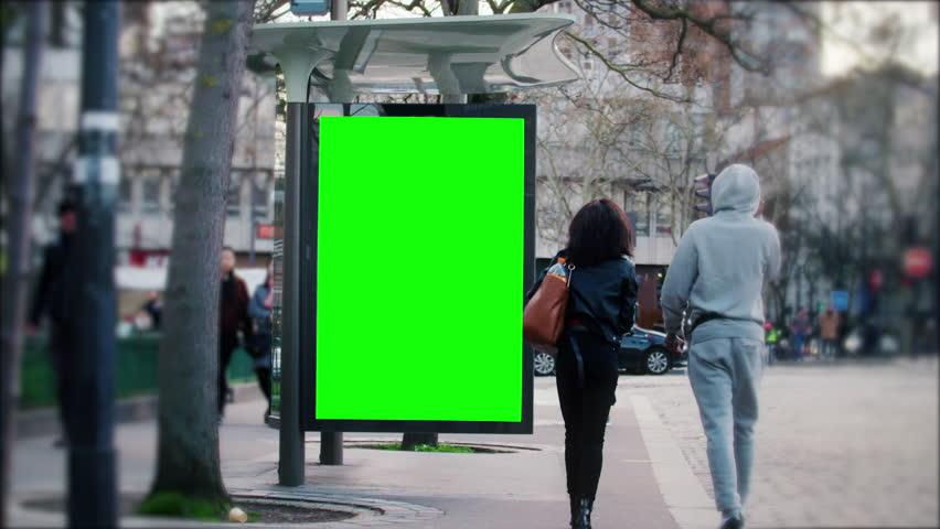 Street bilboard advert - green key