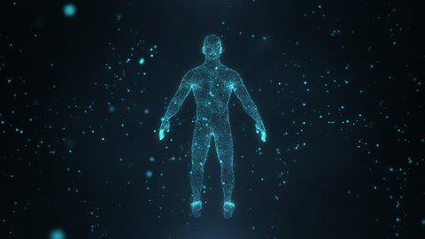 Human 3d Hologram from Point : vidéos de stock (100 % libres de droit)  1026066371 | Shutterstock