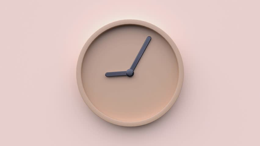 Minimal abstract motion 3d rendering clock time concept time lapse hours | Shutterstock HD Video #1026087926