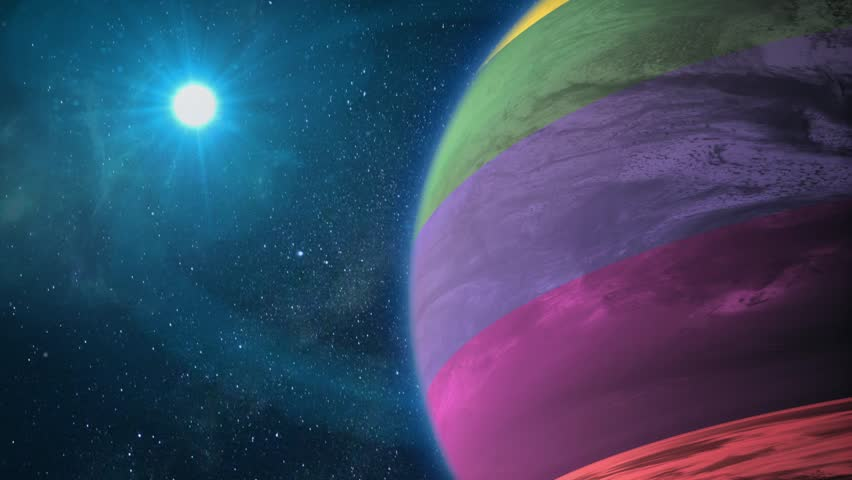 Planet LGBT rotates in space | Shutterstock HD Video #1026124505