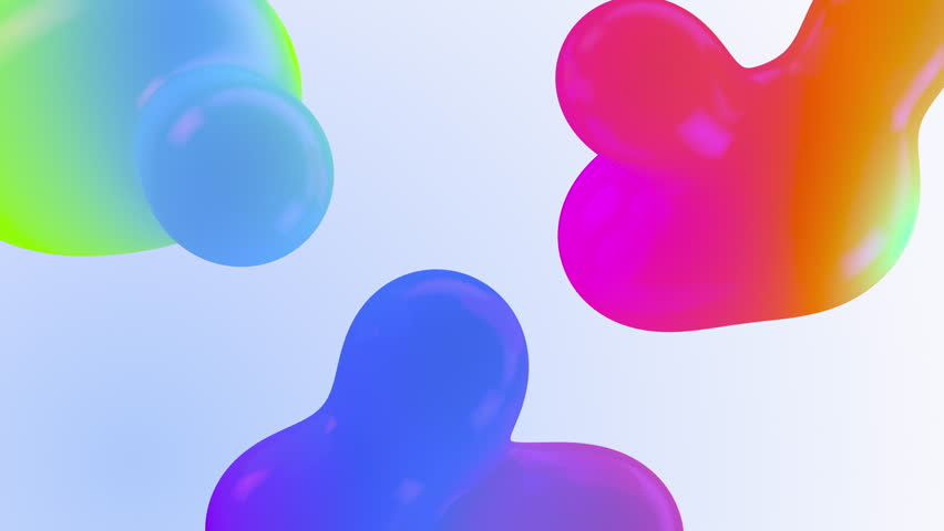 Beautiful Organic Form Cgi Metamorphoses Mixing Colourful Backdrop. Computer Generated New Sci-fi Stylish Gradient Animations Close-up. The Concept of: Biology Render Fantasy Looped Blob Wallpaper | Shutterstock HD Video #1026155501