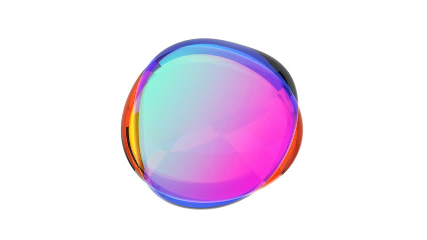Abstract 3d animation, colored bubble, motion design, 4k seamless looped video #1026176258
