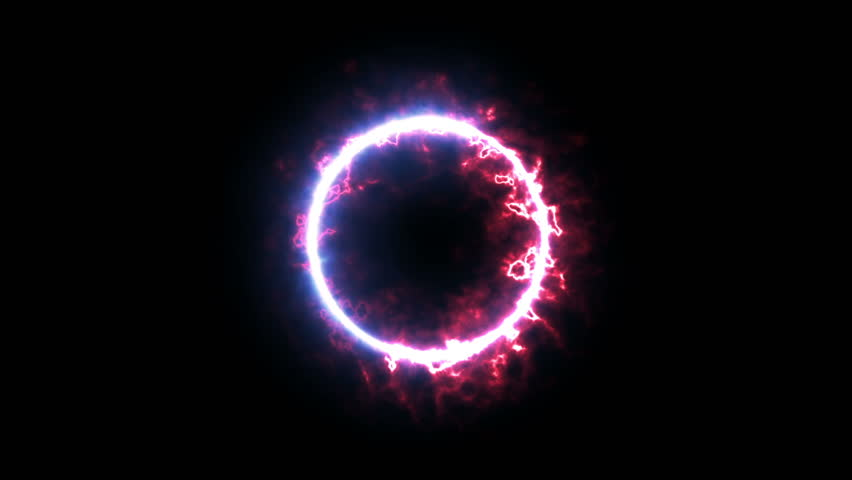 Diffuse Fire and Ice plasma ring magic animation. Abstract ring of plasma with black & white for alpha transparent. Two particle ring running to each other (ying yang) element.