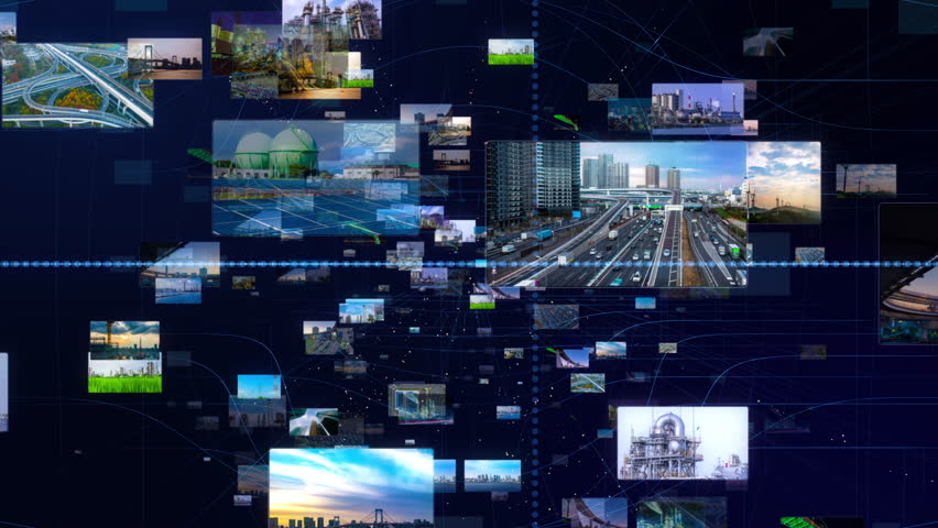 Industry and infrastructure concept. Smart city. Renewable energy. Transportation. | Shutterstock HD Video #1026295244