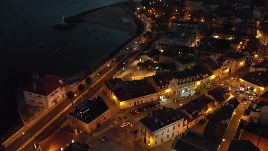 Sight of the historical center of the Village of Paço de Arcos in Oeiras Portugal | Shutterstock HD Video #1026297521