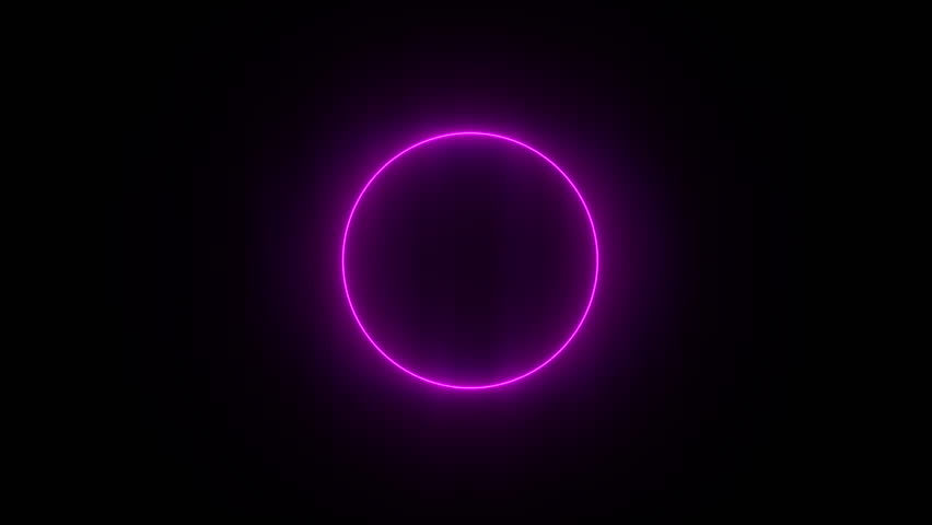 Abstract neon background. Shine pink violet ring. Halo around. Space tunnel. LED color ellipse. Glint glitter. Empty hole. Glow portal. | Shutterstock HD Video #1026305516