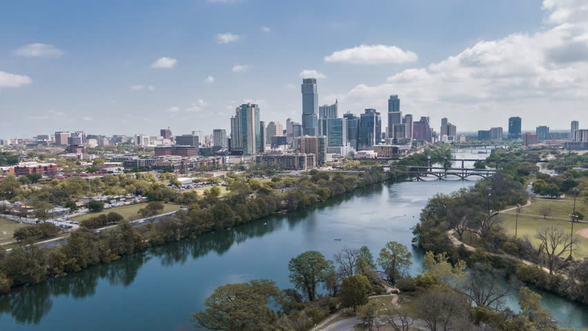 Aerial Time-lapse of Austin skyline - East Facing | Shutterstock HD Video #1026356714