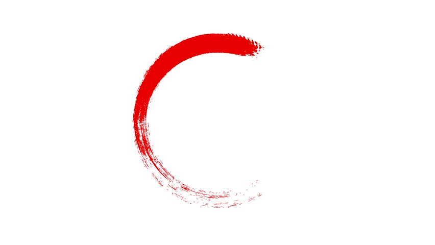 Circle draw on white background, 8 animated design elements of highlighting, red marker animation with alpha channel. | Shutterstock HD Video #1026373256