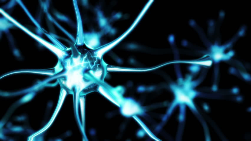 3d render Neuron close up and show flare connection between neuron #1026408743