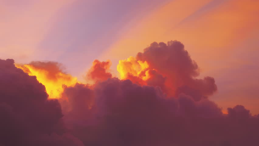 Time lapse video of awesome changing cloudscape at sunset in 4K Royalty-Free Stock Footage #1026441830
