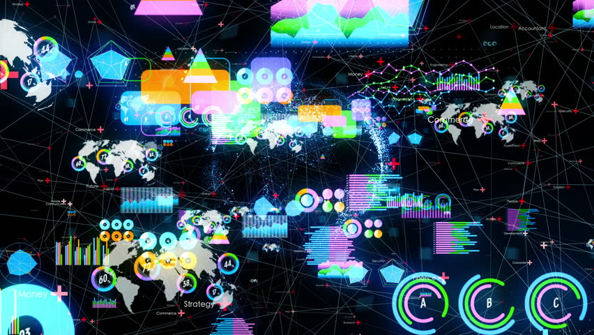 Statistics and network concept. Business strategy.   Shutterstock HD Video #1026483197