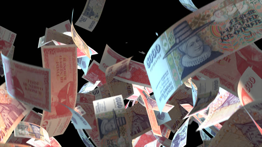 Falling Iceland money banknotes  Video Effect simulates Falling Mixed Iceland money banknotes with alpha channel (transparent background) in 4k resolution  | Shutterstock HD Video #10264844