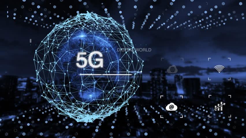 Digital earth, AI technology, 5G network, Fintech, IoT, and advanced technology. | Shutterstock HD Video #1026488702